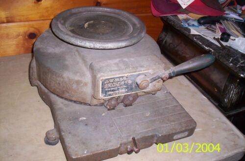 """Vintage Marsh Stencil Machine Co. Die Cutter Press 1"""" Inch 75-0101 Hand Operated"""