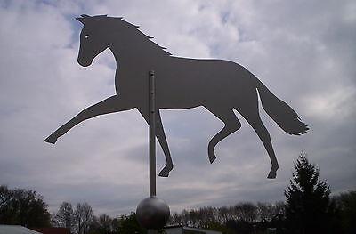 Wetterfahne, Wetterhahn, Edelstahl, Pferd, Wetterfahnen, Wetterfahnen- Knirsch