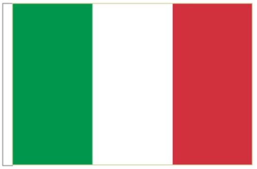 Italy Sleeved Courtesy Flag ideal for Boats 45cm x 30cm