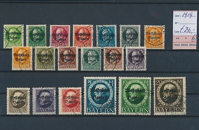 LL96715 Germany 1919 Bayern overprint fine lot used cv 240 EUR