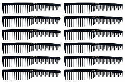 "Krest 6000 Black 7"" Vent Comb Pack of 1 dozen  Space Tooth"