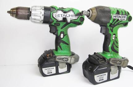 HITACHI CORDLESS 18V HAMMER DRILL & IMPACT WRENCH #666408 Ipswich Ipswich City Preview