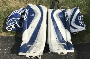 "Goalie pads/blocker/catcher 31"" intermediate"