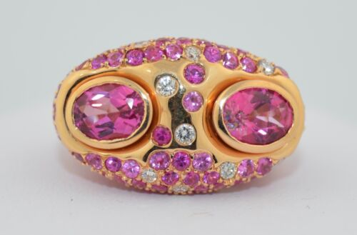 Marco Valente 18K Pink Sapphire & Diamond Cocktail Ring