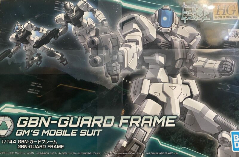 BANDAI HGBD Gundam Build Divers GBN Guard Frame 1/144 Scale Plastic Model JP