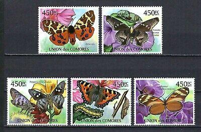 Comoros 2011 Mi#2976-80  Butterflies  MNH Set $12.65