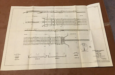 1912 Panama Canal Sketch Diagram Showing Gatun Locks Progress