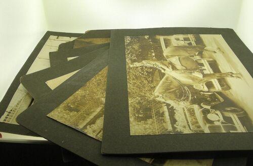 C.1928 LOT OF SIX HARLEM NEW YORK 28TH PRECINCT PHOTOS INCL.