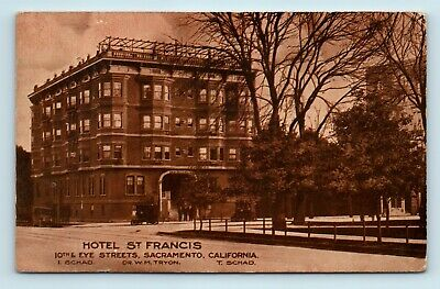 Used, Sacramento, CA - c1913 STREET SCENE OF HOTEL ST FRANCIS - OLD CARS - POSTCARD for sale  Shipping to Canada