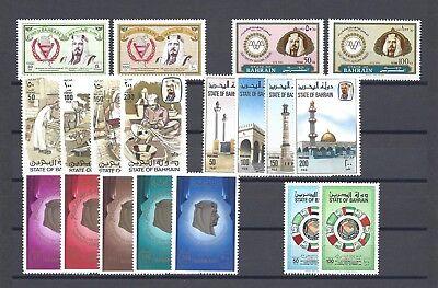 BAHRAIN 1981-83 6 SETS MNH Cat £68.60