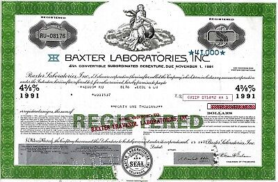 Baxter Laboratories Inc., 1977,  4 3/8% Debenture due 1991 (41.000 $)