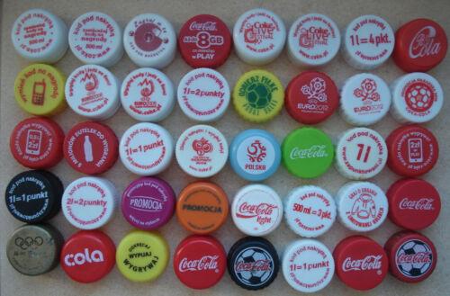 Coca cola 40 plastic different caps