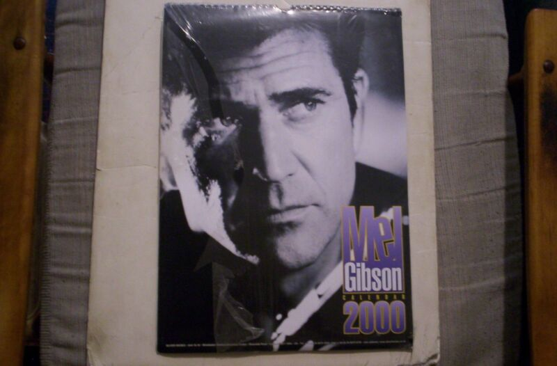 Mel Gibson Large Size UK 2000 Calendar SEALED IN SHRINK