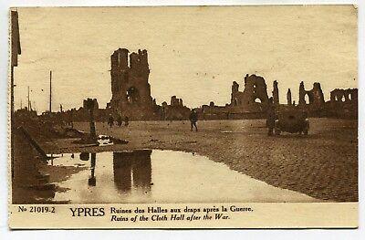CPA - Carte Postale - Belgique - Ypres - Ruines des Halles aux Draps