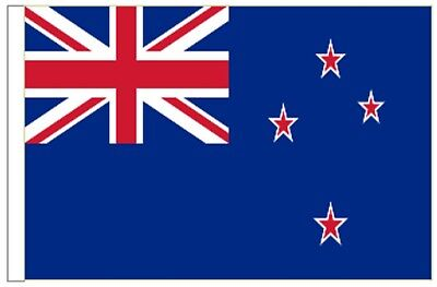 New Zealand Sleeved Courtesy Flag ideal for Boats 45cm x 30cm