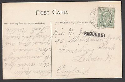 Great Britain - 1903 postcard, PAQUEBOT, cancelled Marseille France