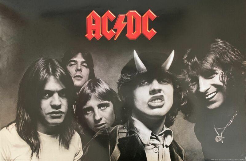 AC/DC Horizontal Band Shot Poster 24 X 36