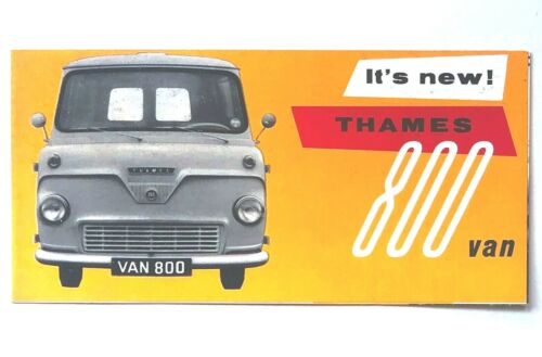 1958 Thames 800 Van Sales Brochure Commerical Vehicle Engine Specifications