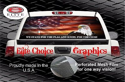 Stand For The Flag Rear Window Graphic Decal Sticker Truck Car SUV Car Rear Window Graphics