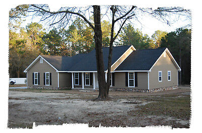 Ranch House Plans 1673 SF 3 Bed 2 Bath Split BR (2 floor options) (Blueprints)