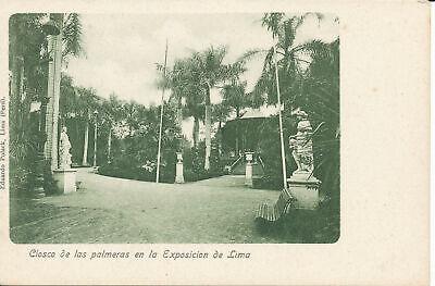PC38707 Ciosco de las Palmeras en la Exposicion de Lima. Eduardo Polack. B. Hopk, usado comprar usado  Enviando para Brazil