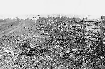 Dead Confederate Soldiers Antietam PHOTO Battle of Antietam Civil War Bloodiest