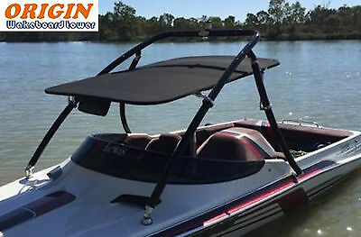 Used, Origin Advancer Wakeboard Tower Black Coated Plus Flat Tower Bimini for sale  Shipping to Canada