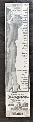 Large 1953 Marilyn Monroe movie ad. - Original