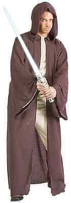 Jedi Robe Star Wars Knight Master Hooded Fancy Dress Up Halloween Adult Costume - Jedi Master Halloween Costume