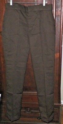 Mens Flying Cross by Fechheimer Brown IntelliDry Uniform Pants Hemmed 35-Reg NWT