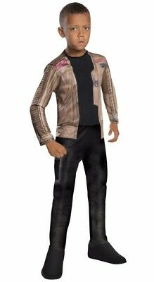 Childrens Star Outfit (Star Wars Finn Child Costume S L Halloween Outfit Dress Up The Force Awakens)