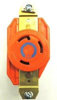 Hubbell Twist-lock Ig2620 Receptacle Socket 250v 30a L6-30r 2p 3w 1ph Blue