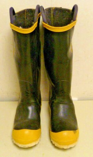 FireWalker Ranger Firefighter Boots Turnout Rubber Steel Toe Size 6 Medium R005