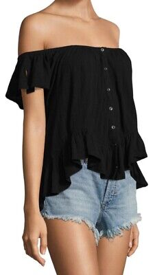 Free People Top XS Black Strapless/ Spring- Summer