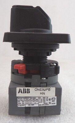 Abb Onsa2pb Cam Line Rotary Stop Switch 2 Pole Pn 1sca022531r6710