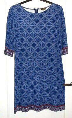 Robe bleu motifs géométriques SURKANA T XXL TBE
