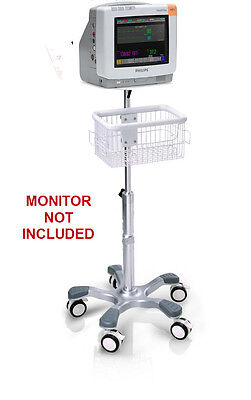 Rolling Stand For Philips Intellivue Mp5 Patient Monitor New With Laptop Holder