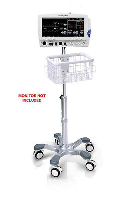 Rolling Stand For Welch-allyn Atlas 6200 Patient Monitor New Big Wheel