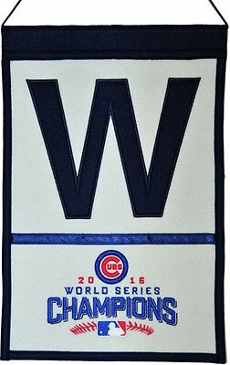 Chicago Cubs 2016 World Series Champions Wool Banner W Decor 13195 - Chicago Decorations