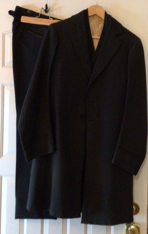 Rare Antique 1800's Civil War Era Men's Frock Coat Vest And Pants