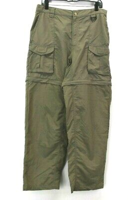 6a4250c4e8 Columbia Men's M PFG Performance Fishing Gear Outdoor Nylon Cargo Pants  Khaki