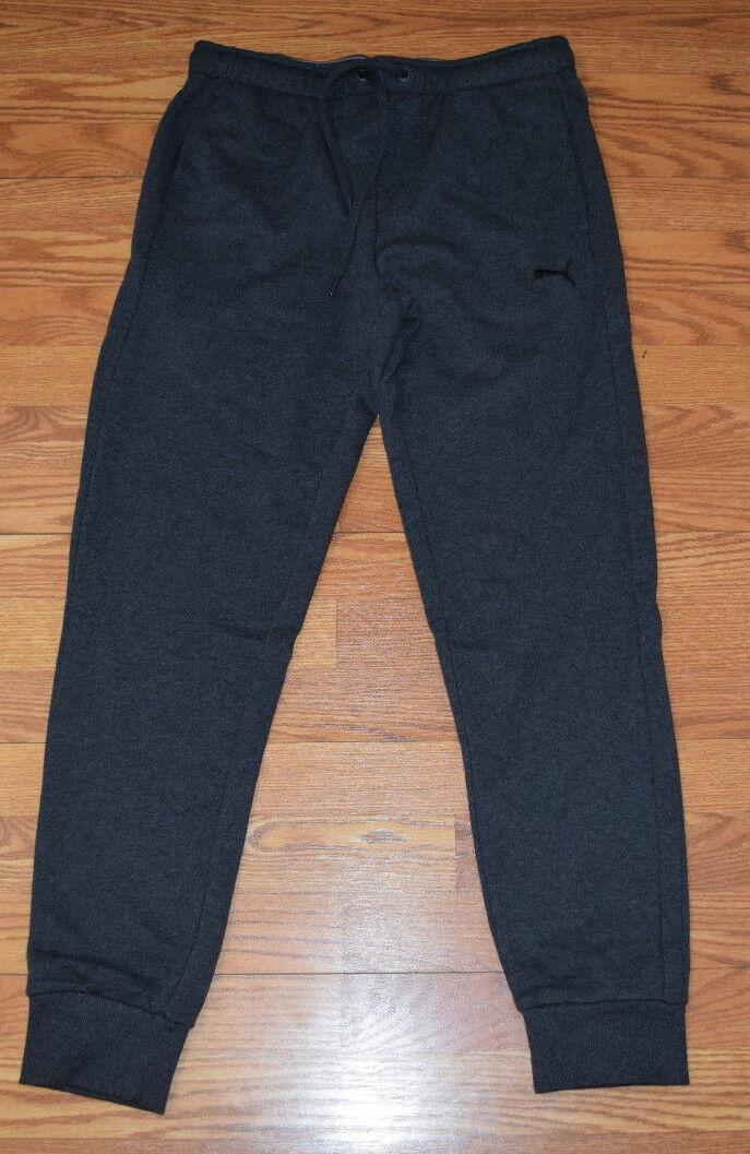 NWT Mens PUMA Solid Charcoal Gray Lounge Jogger Leg Sweat Pa