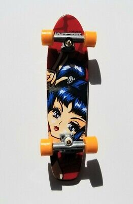Vintage Hook-Ups School Girl Raven Tech Deck Cruiser Skateboard Finger Board