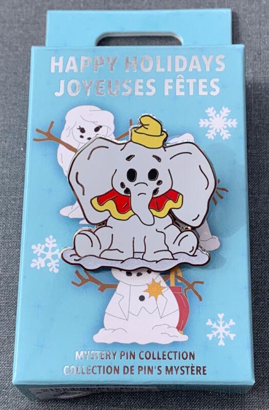 Disney Parks 2020 Happy Holidays Joyeuses Fetes Snowman Dumbo Mystery Box Pin