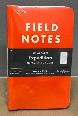 Field Notes Expedition Sealed 3-pack Notebooks Waterproof Paper Fnc-17
