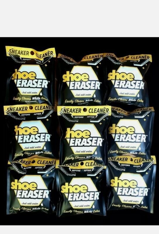 10 pack SNEAKER CLEANER Shoe Eraser Easily Cleans White Soles just add water