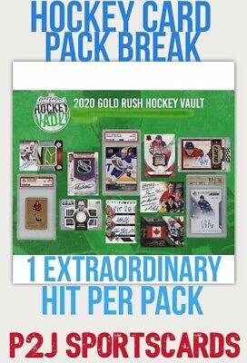 Gold Rush 2020 VAULT HOCKEY CARD PACK BREAK 1 RANDOM TEAM Break 2195 NHL 1 HIT