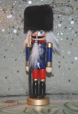 Traditional Wooden Christmas Nutcracker Soldier Fusilier Decoration Bearskin Hat