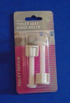 PLASTIC TOILET SEAT HINGE BOLTS AQUA PLUMB C0912 PARTS - Plastic Toilet Seat