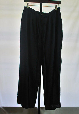 Abercrombie and Fitch Navy Blue Split Leg Pants Women's Sz M for sale  Valrico